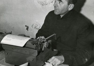 Albert Speer en su celula de la prision de Nuremberg (Alemaña 1945)